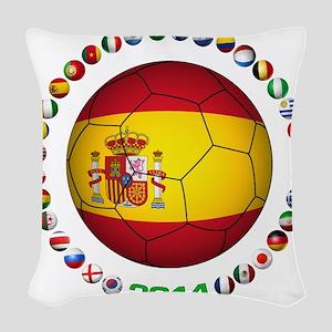 Spain soccer Woven Throw Pillow