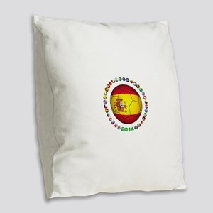 Spain soccer Burlap Throw Pillow
