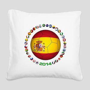 Spain soccer Square Canvas Pillow