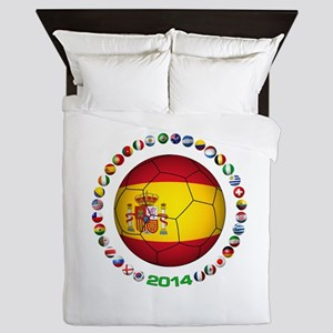 Spain soccer Queen Duvet