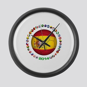 Spain soccer Large Wall Clock