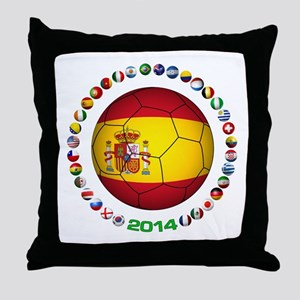 Spain soccer Throw Pillow