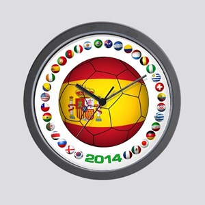 Spain soccer Wall Clock