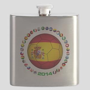 Spain soccer Flask