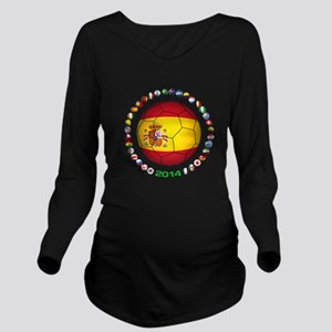 Spain soccer Long Sleeve Maternity T-Shirt
