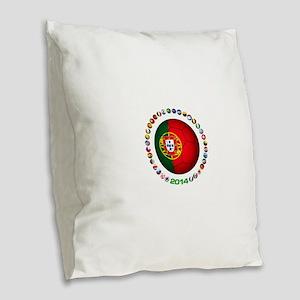 Portugal futebol soccer Burlap Throw Pillow