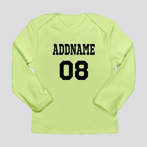 Custom Sports Theme Long Sleeve Infant T-Shirt