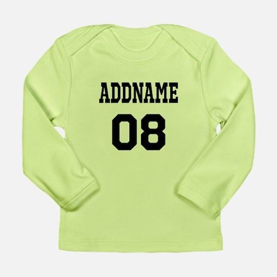 Custom Sports Theme Long Sleeve Infant T-Shirt