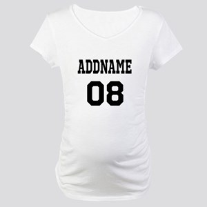 Custom Sports Theme Maternity T-Shirt