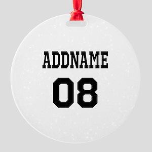 Custom Sports Theme Round Ornament