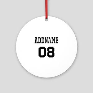 Custom Sports Theme Ornament (Round)