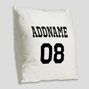Custom Sports Theme Burlap Throw Pillow