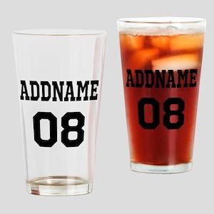 Custom Sports Theme Drinking Glass