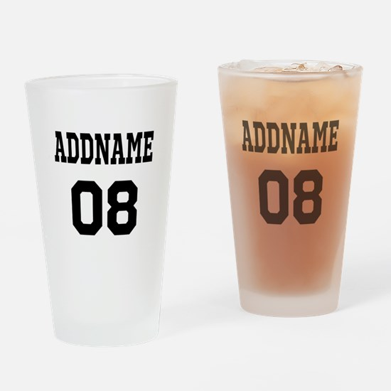 Custom Sports Theme Drinking Glass
