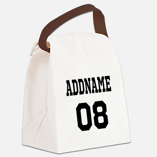 Custom Sports Theme Canvas Lunch Bag