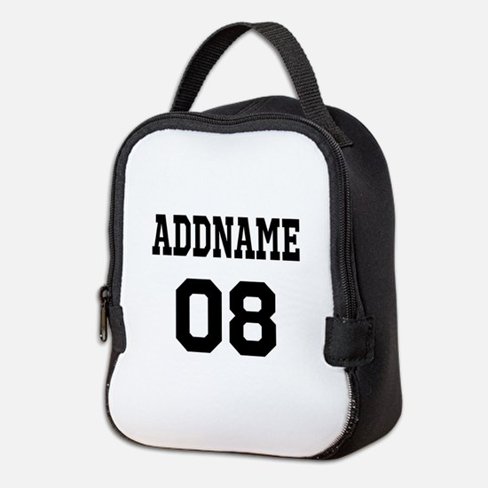Custom Sports Theme Neoprene Lunch Bag