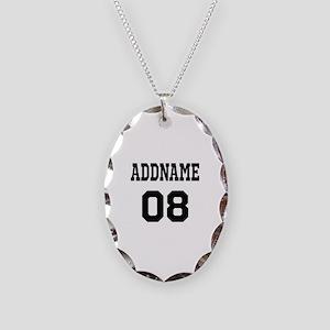 Custom Sports Theme Necklace Oval Charm