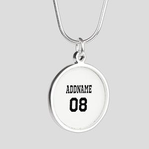 Custom Sports Theme Silver Round Necklace