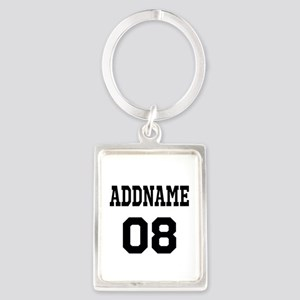 Custom Sports Theme Portrait Keychain