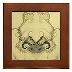 Stylized Angel Wings Framed Tile