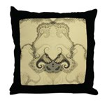 Stylized Angel Wings Throw Pillow