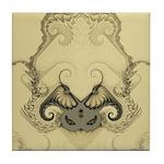 Stylized Angel Wings Tile Coaster