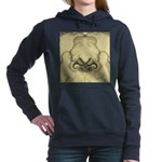 Stylized Angel Wings Women's Hooded Sweatshirt