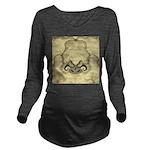 Stylized Angel Wings Long Sleeve Maternity T-Shirt