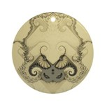 Stylized Angel Wings Ornament (Round)