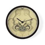 Stylized Angel Wings Wall Clock