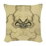 Stylized Angel Wings Woven Throw Pillow