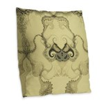 Stylized Angel Wings Burlap Throw Pillow