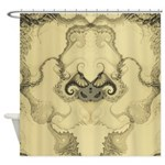 Stylized Angel Wings Shower Curtain
