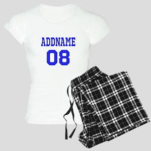Blue Jersey Style Custom Women's Light Pajamas