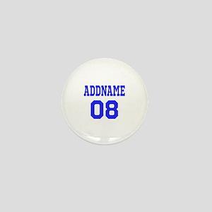 Blue Jersey Style Custom Mini Button