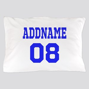 Blue Jersey Style Custom Pillow Case