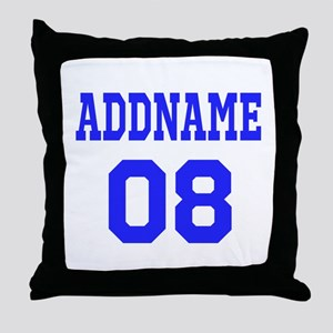 Blue Jersey Style Custom Throw Pillow
