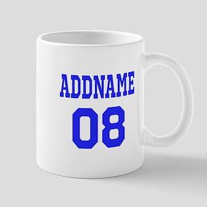 Blue Jersey Style Custom Mug