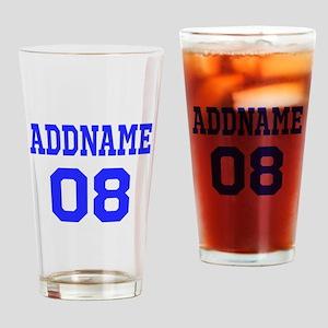 Blue Jersey Style Custom Drinking Glass