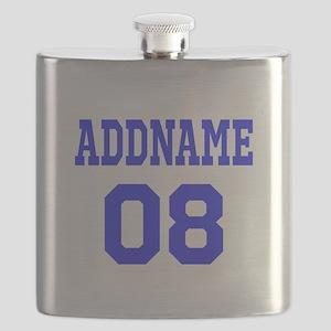 Blue Jersey Style Custom Flask
