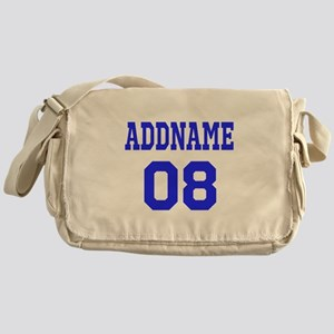 Blue Jersey Style Custom Messenger Bag