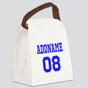 Blue Jersey Style Custom Canvas Lunch Bag