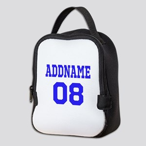 Blue Jersey Style Custom Neoprene Lunch Bag