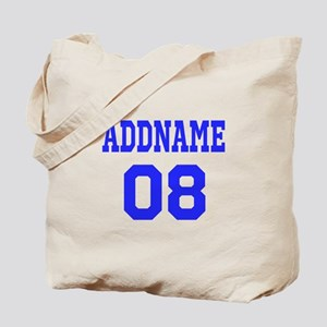 Blue Jersey Style Custom Tote Bag