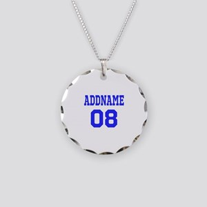 Blue Jersey Style Custom Necklace Circle Charm