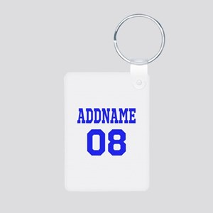 Blue Jersey Style Custom Aluminum Photo Keychain