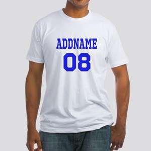 Blue Jersey Style Custom Fitted T-Shirt