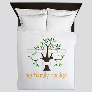 My Family Rocks Queen Duvet