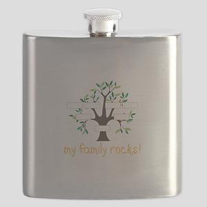 My Family Rocks Flask