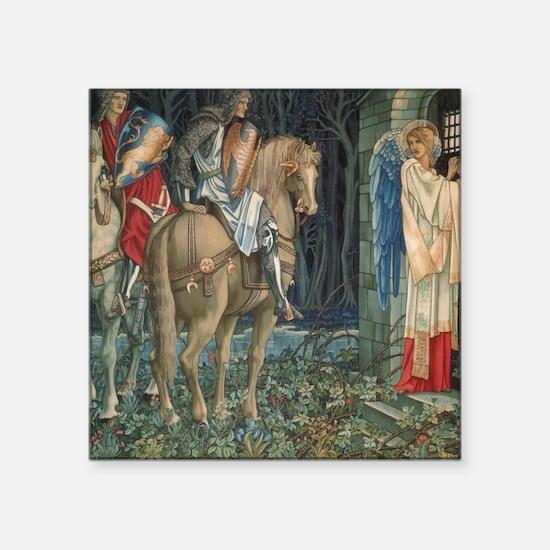 "The Failure of Sir Gawaine Square Sticker 3"" x 3"""